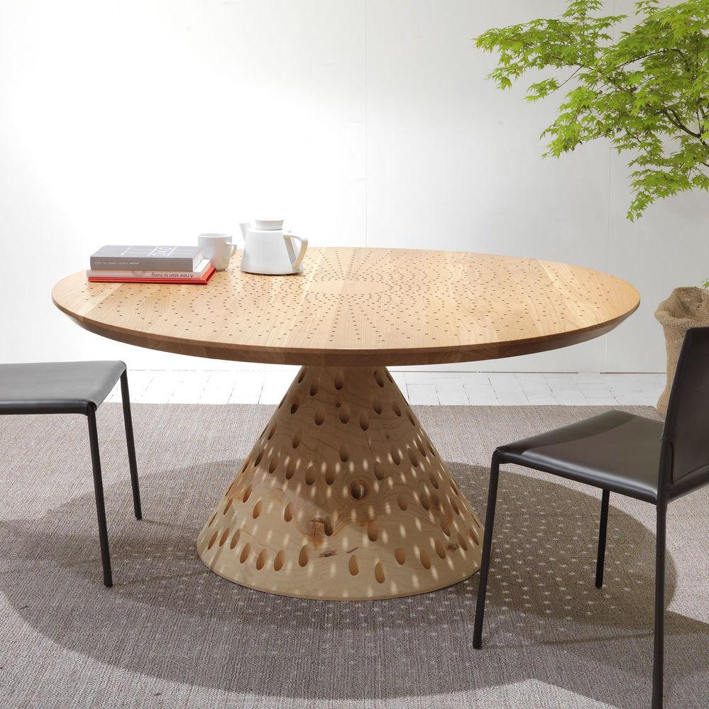 Tavolo design originale / in legno massiccio / in cedro / quadrato ...