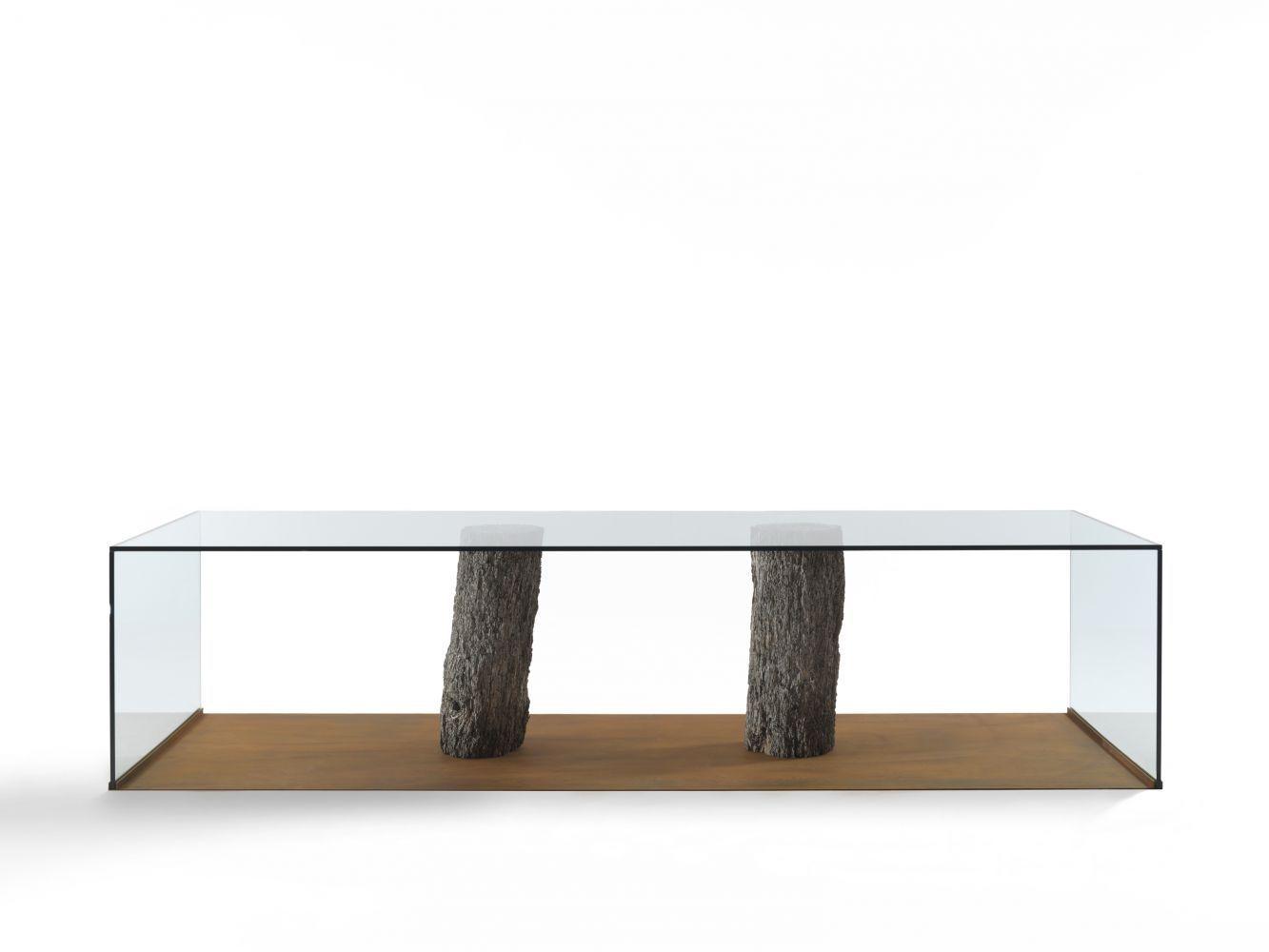 Tavolo Moderno Legno E Vetro.Tavolo Moderno In Legno In Vetro Rettangolare Laguna By