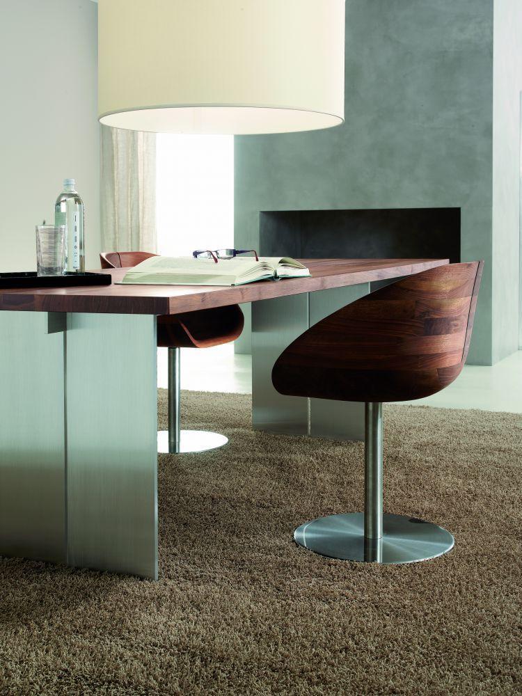 Tavolo moderno / in legno massiccio / in alluminio / rettangolare ...