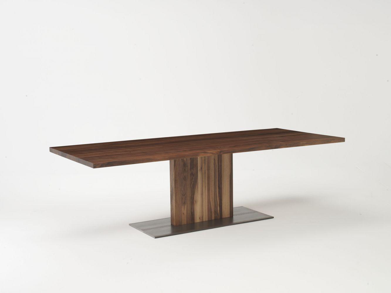 Tavolo moderno / in legno massiccio / ovale / rettangolare ...