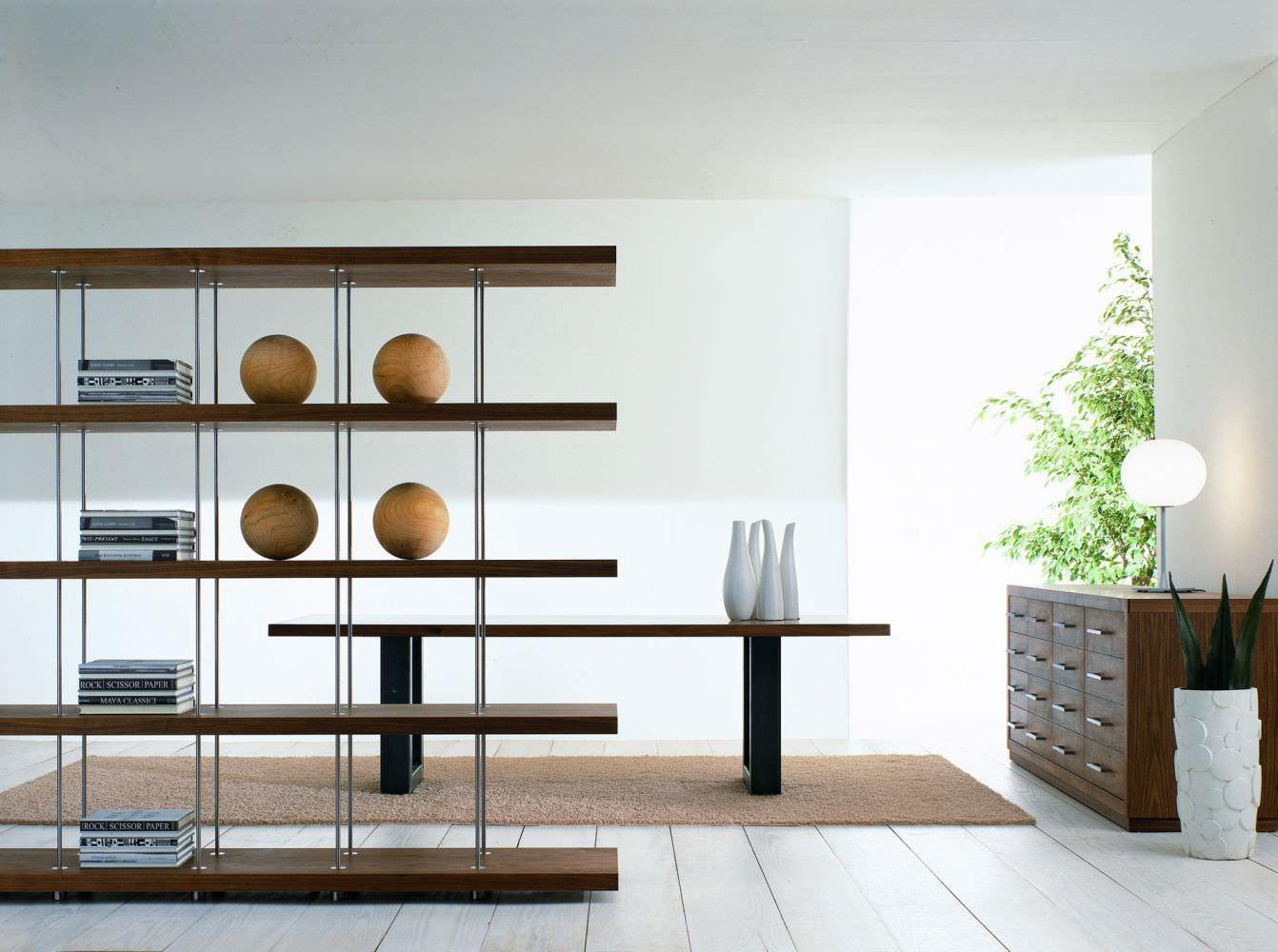 Tavolo moderno / in legno massiccio / in ferro / in acciaio ...