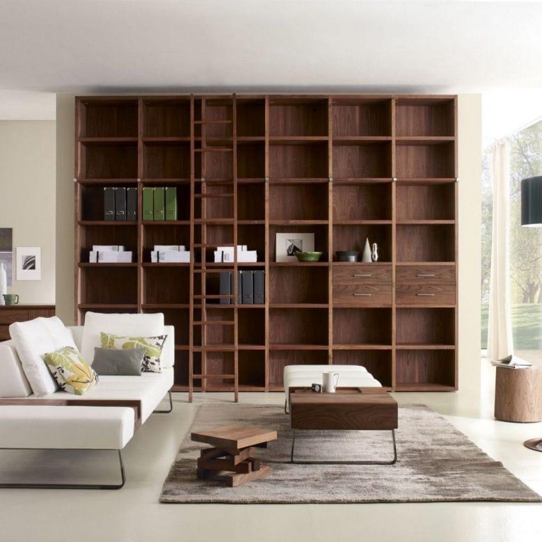 Libreria modulare / moderna / in quercia / in legno massiccio ...
