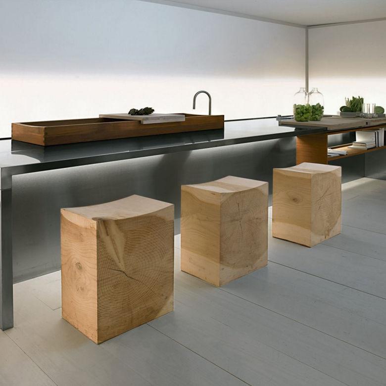 Sgabello moderno / in legno massiccio / in cedro / da giardino ...