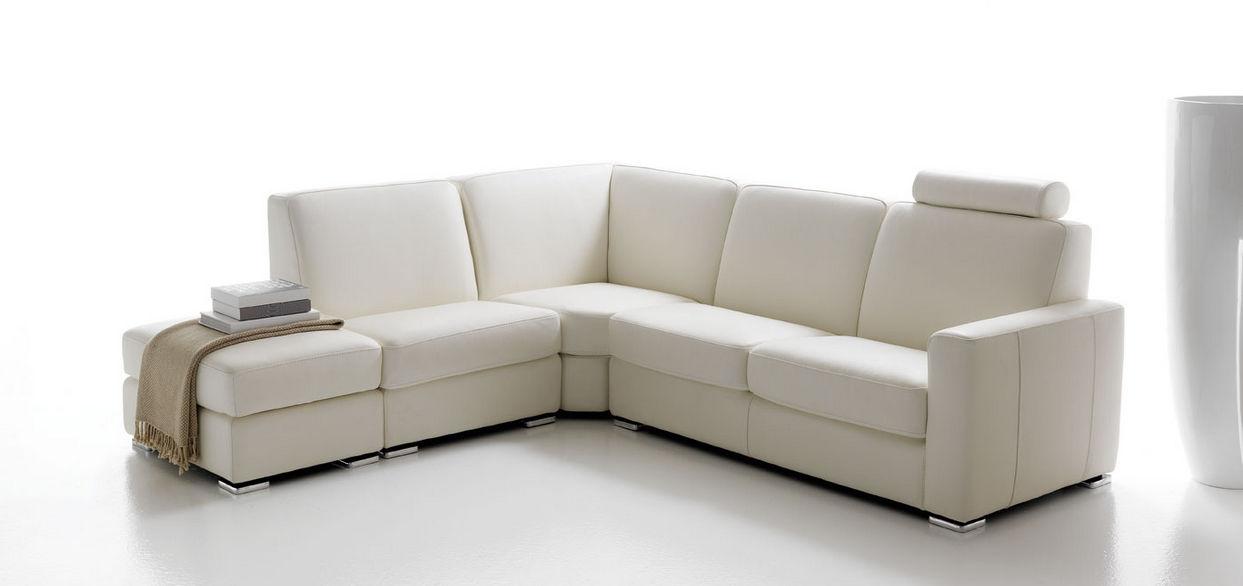 Divano modulare / moderno / in pelle / 5 posti - CORTINA - Rosini