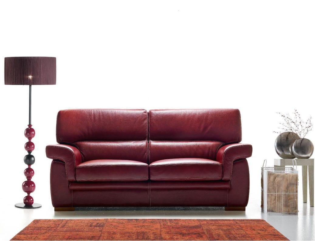 Divano letto moderno in pelle posti amalfi rosini