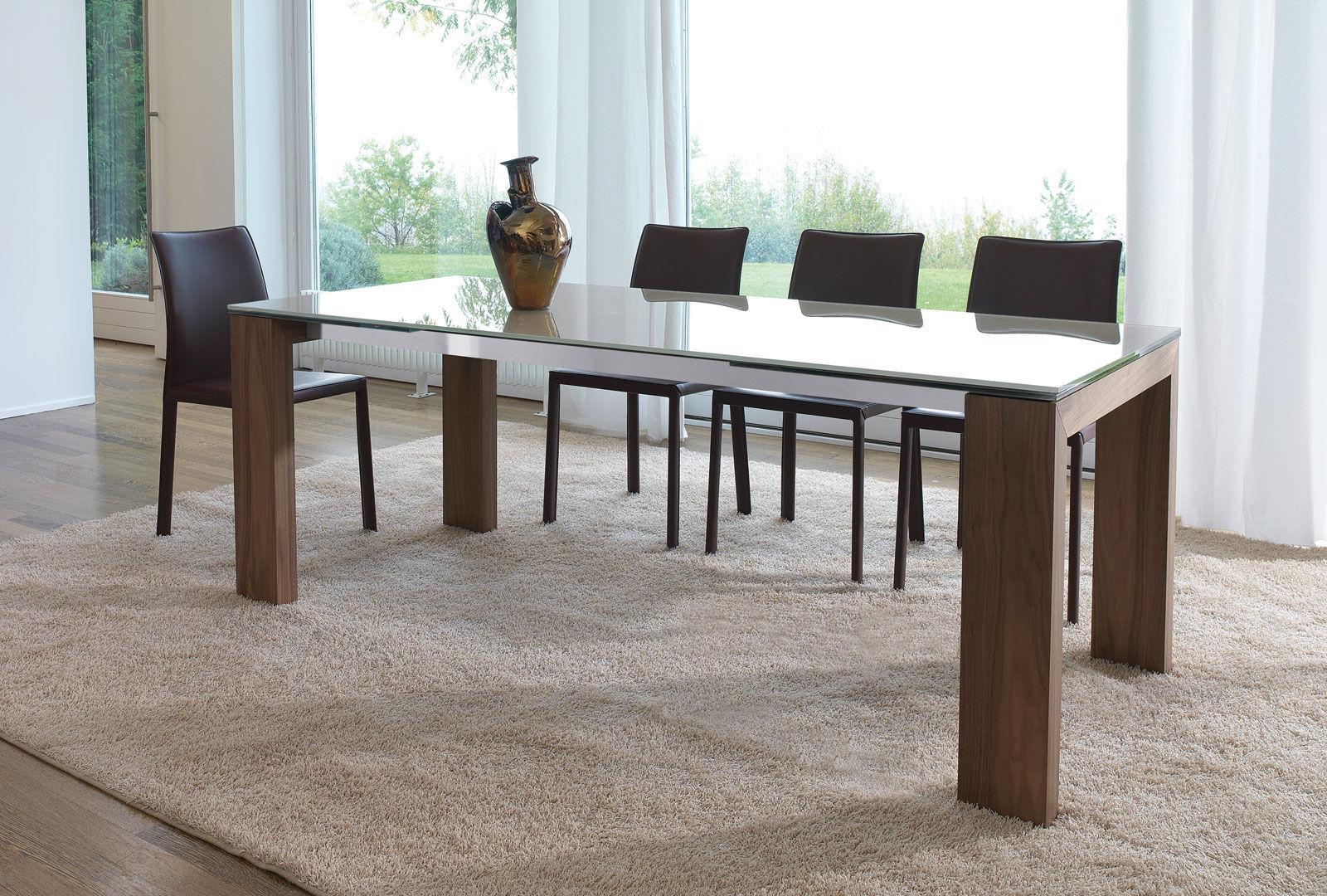 Tavolo da pranzo / moderno / in vetro / in legno laccato - ALIANTE ...