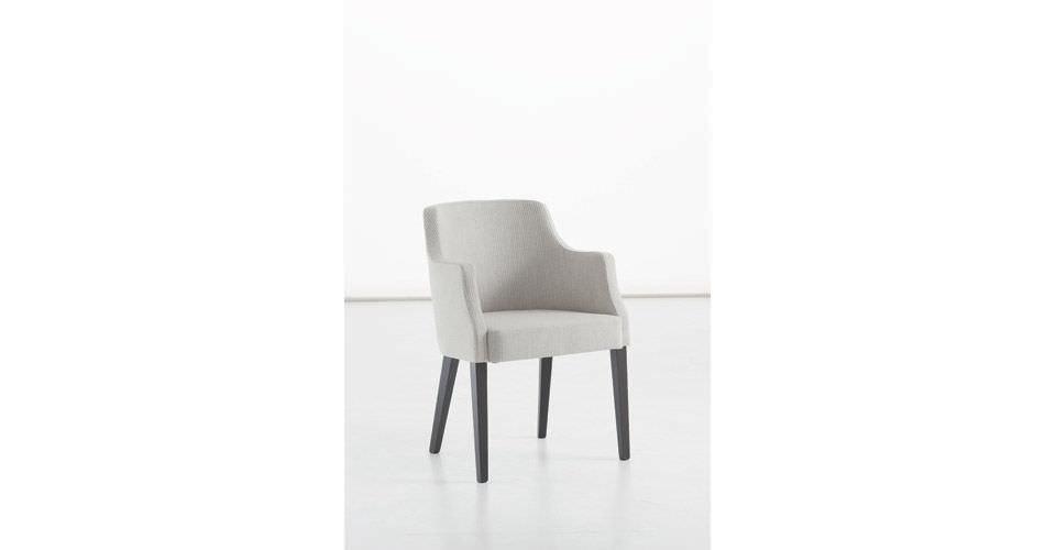 Sedia moderna imbottita con braccioli in tessuto aida sedit