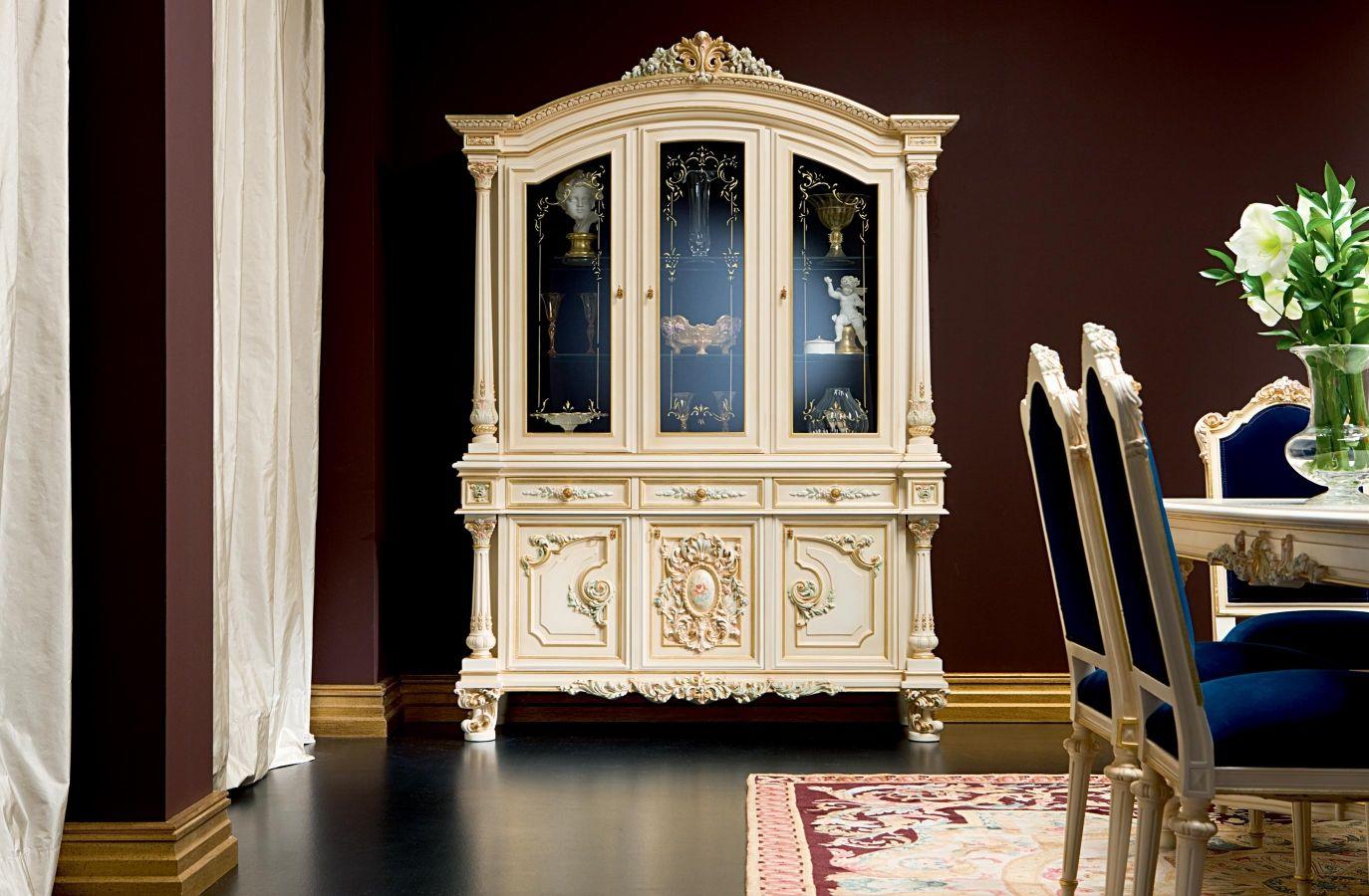 Credenza Con Alzata In Vetro : Credenza con alzata in stile legno vetro talia silik