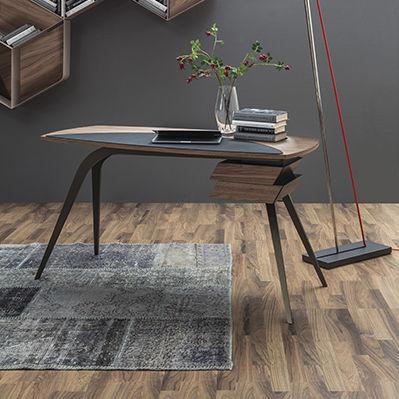 Scrittoio moderno / in legno / in metallo / in pelle - LOGOS - Tonin ...