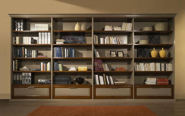 Libreria Per Ufficio : Libreria moderna per ufficio in legno class zilio mobili