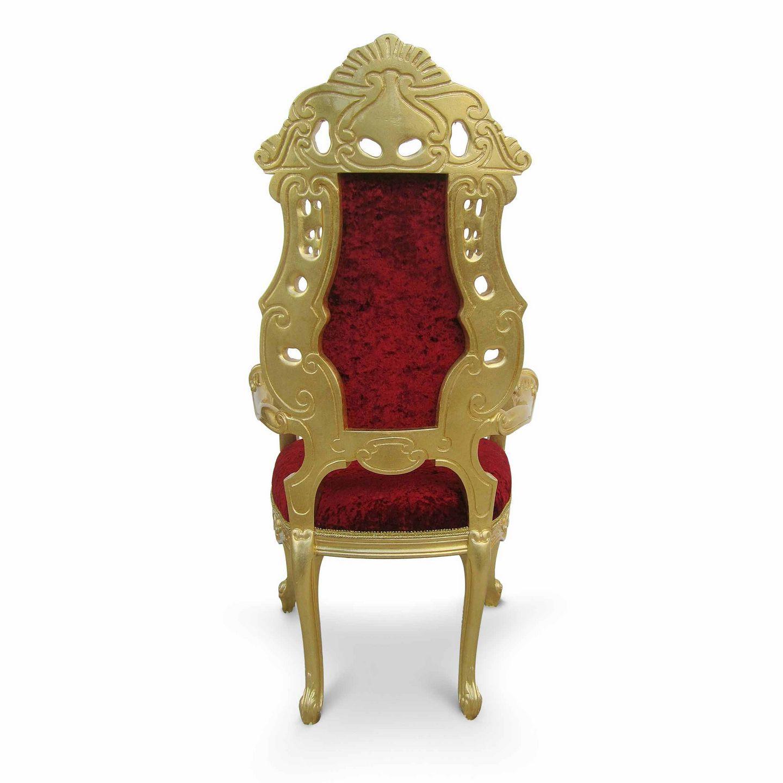 Poltrona design nuovo barocco / in velluto / in legno massiccio ...