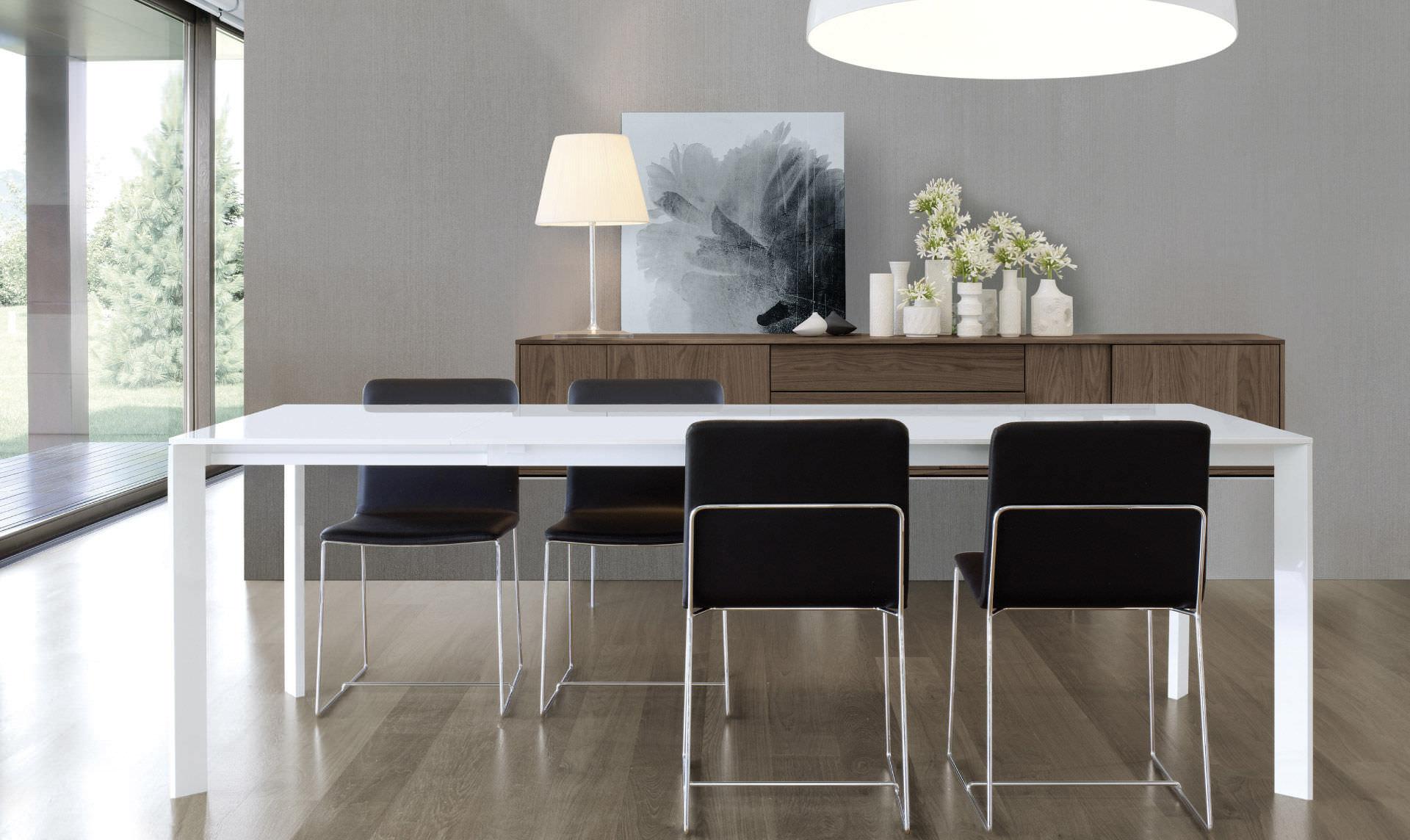 Tavolo In Legno Design: Tavolo moderno legno massello base shangai ...