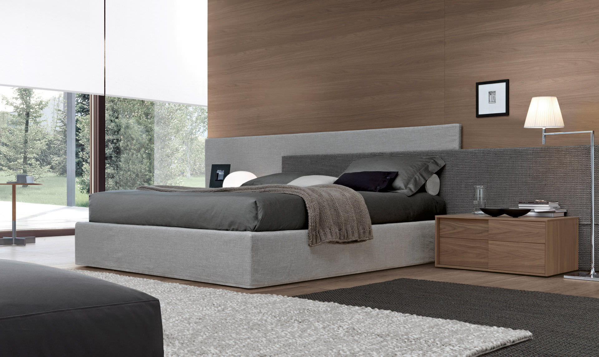 Letto standard / matrimoniale / moderno / in quercia - MYLOVE by ...