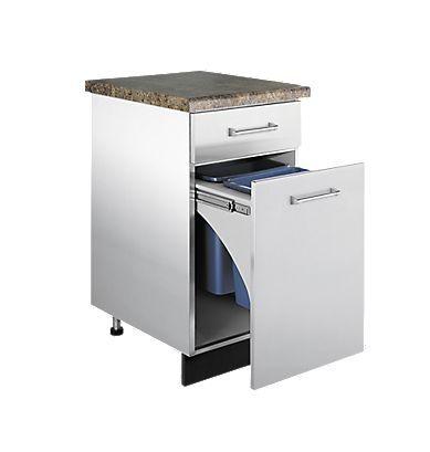 Mobile basso da cucina / da appoggio / da esterno - VTPO : 18 W x ...
