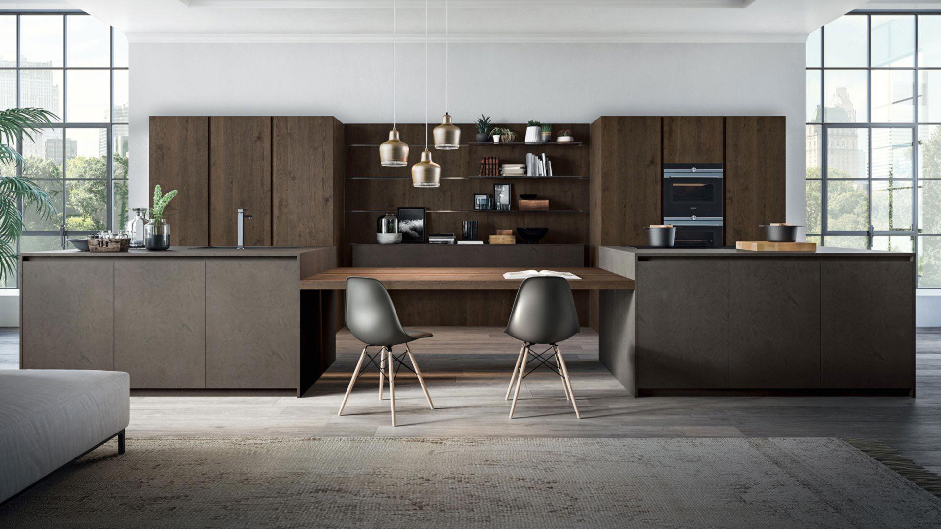 Cucina moderna / in legno / in resina / con isola - OMICRON 22 ...