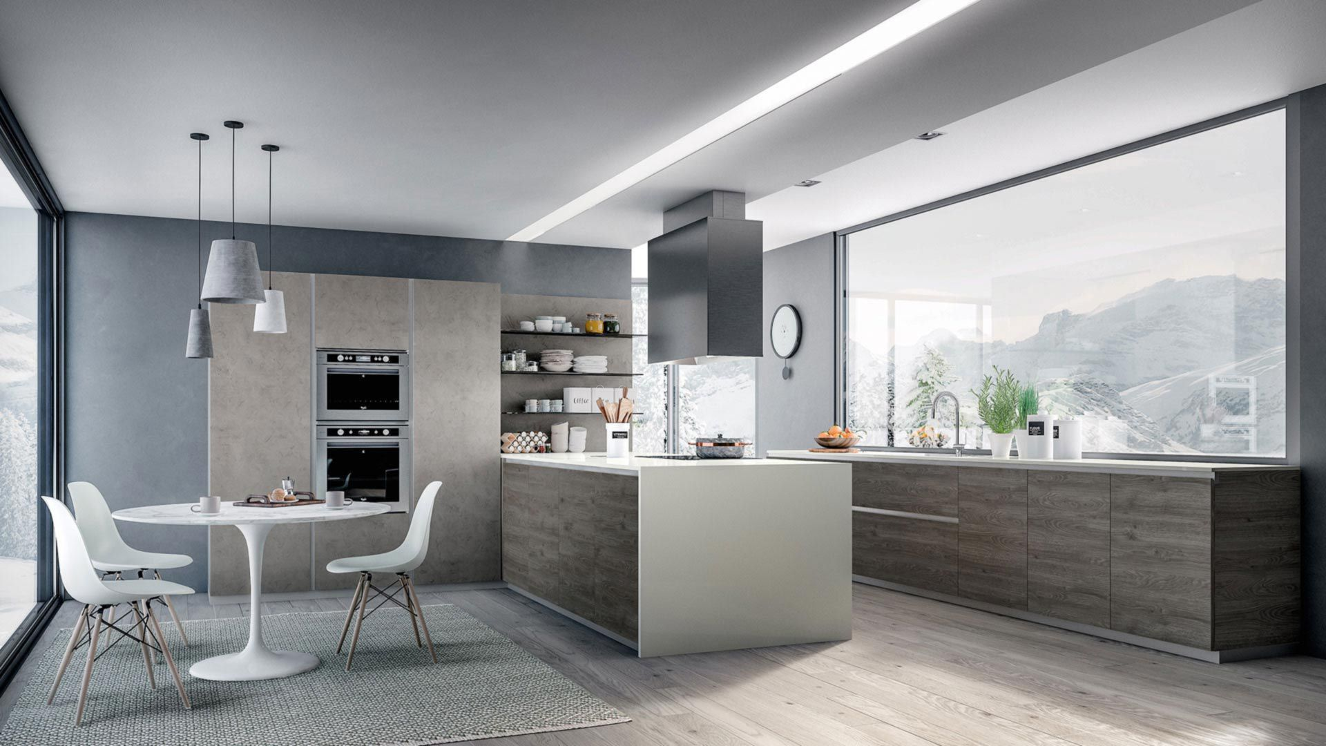 Armony Cucine. Awesome Kitchen Wooden Ushaped Ypsilon Composition ...