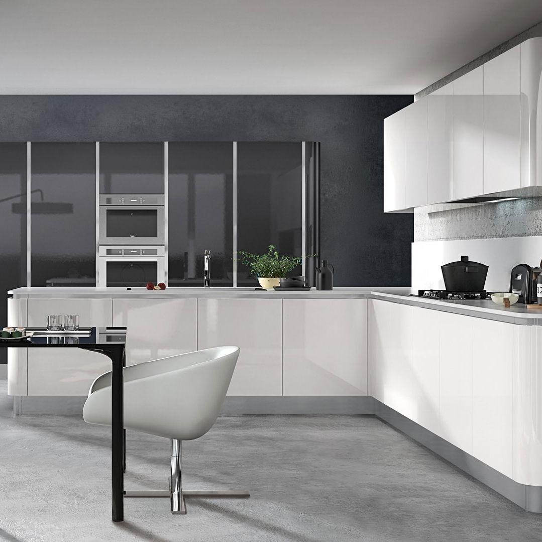 Cucina moderna / in melamminico / a L / lucida - YPSILON ...