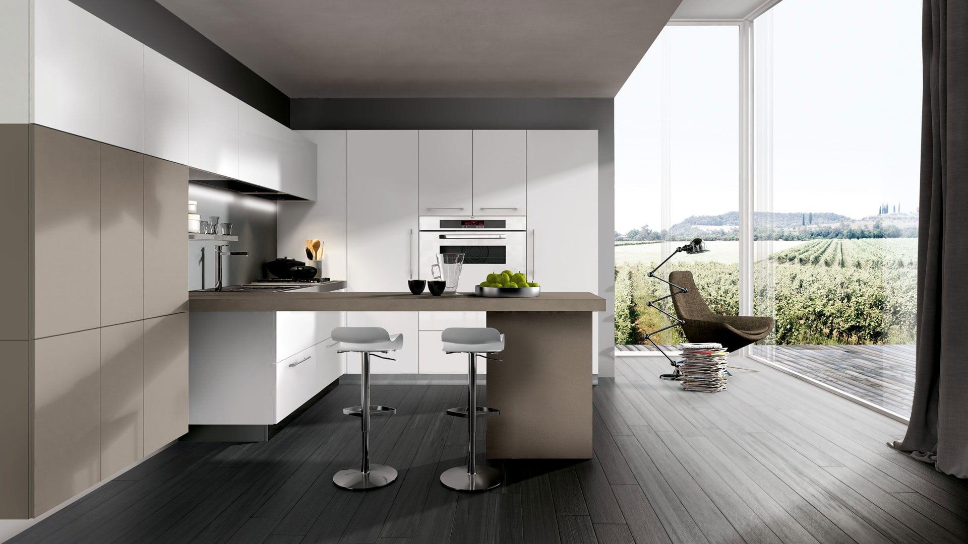 Cucina moderna / in melamminico / a L / laccata - KAPPA ...