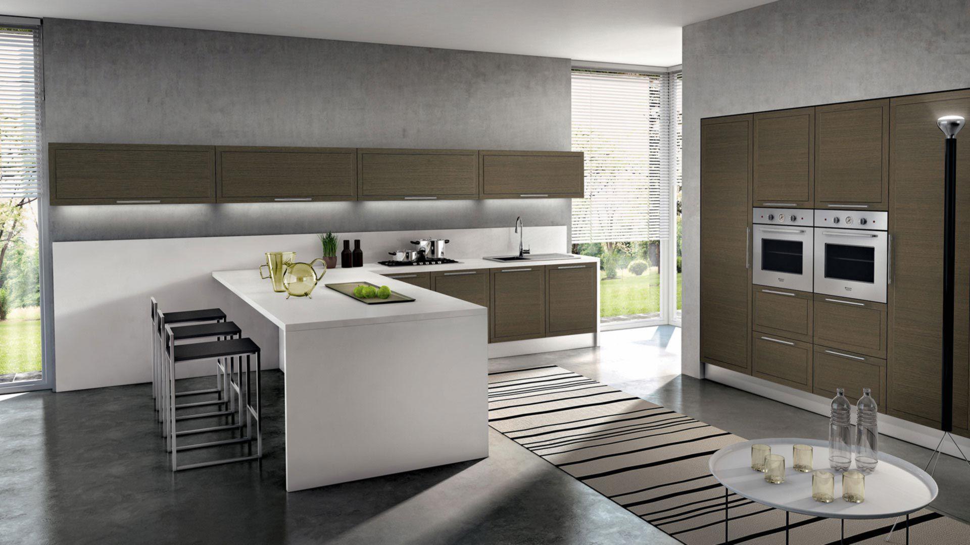 Cucina moderna / in legno / a L - DIADEMA : COMPOSITION 01 ...