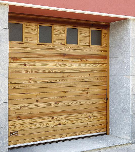 Connu Porte sezionali per garage / in legno massiccio / automatiche  JB28