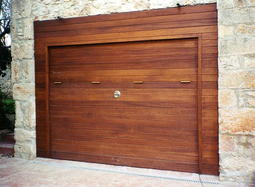 Porta basculante per garage / legno / automatica - Angel Mir ...