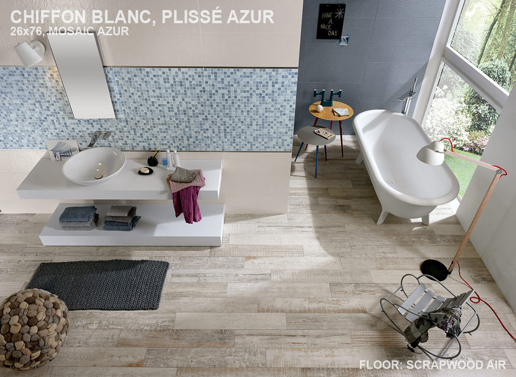 Piastrella da bagno da parete in gres porcellanato in