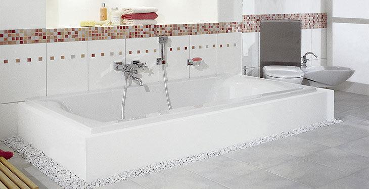 Vasca Da Bagno 160 90 : Vasca da bagno in acrilico doppia arosa repabad