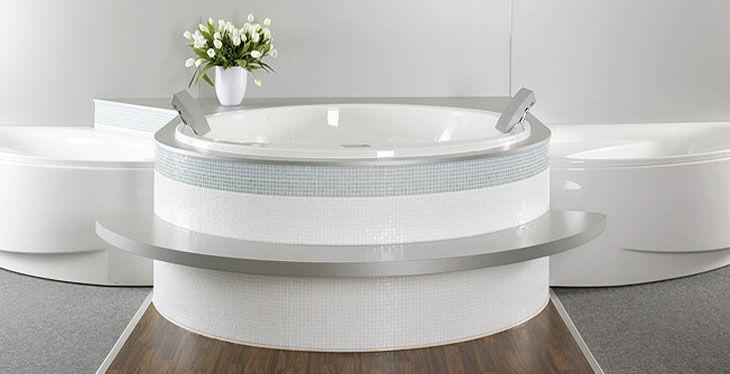 Vasca da bagno rotonda / in acrilico - ASCONA 180 - Repabad - Video