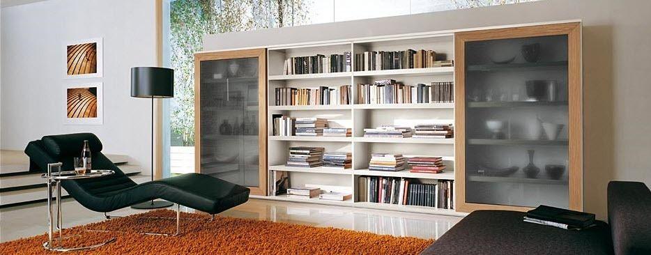 Libreria moderna / in legno / vetrata - GATE_P. 16-17 - ORME