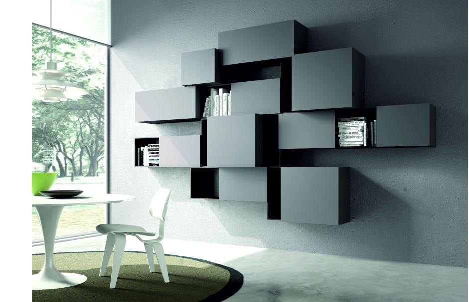 Libreria a muro / moderna / in legno - ACCORDO_PAG. 5 : COMPOSITION ...