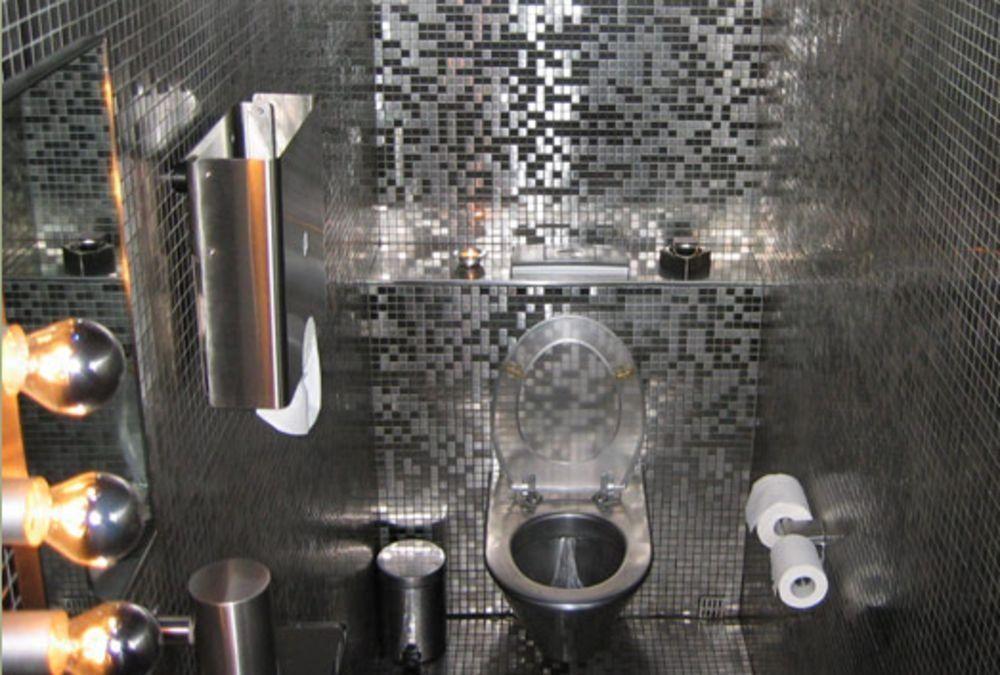 Bagno Con Mosaico Nero : Mosaico da interno da bagno da parete in acciaio inox