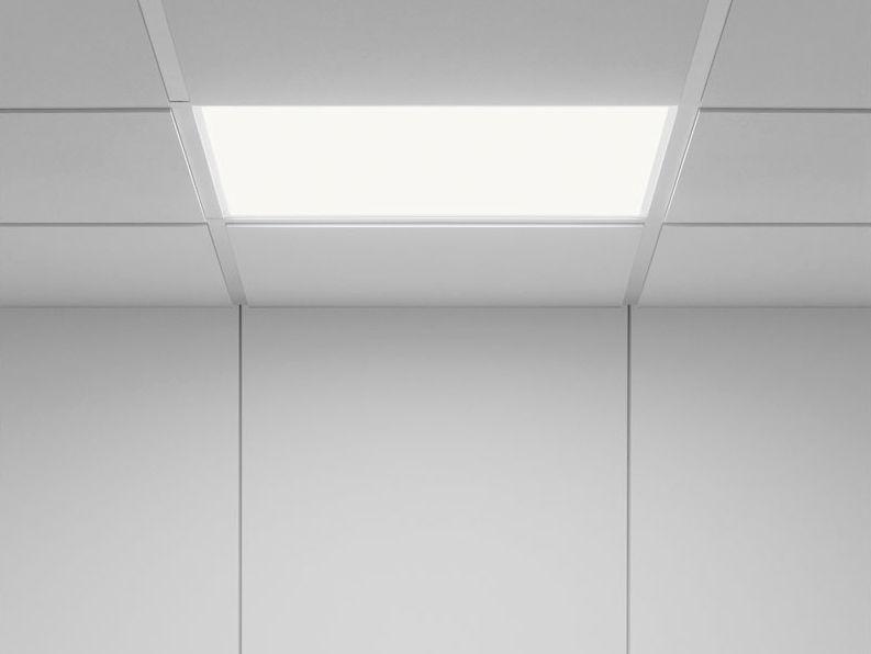 Plafoniera Led Slim Quadrata : Luce da incasso a soffitto led quadrata in alluminio level