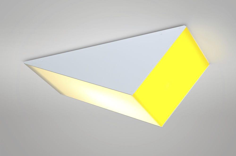 Plafoniera Gialla : Plafoniera moderna triangolare in metallo acrilico
