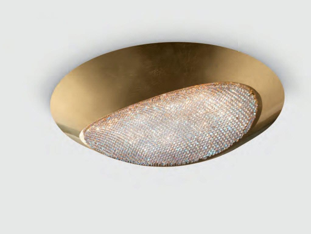 Plafoniere Cristallo Prezzi : Plafoniera moderna in cristallo swarovski alluminio a