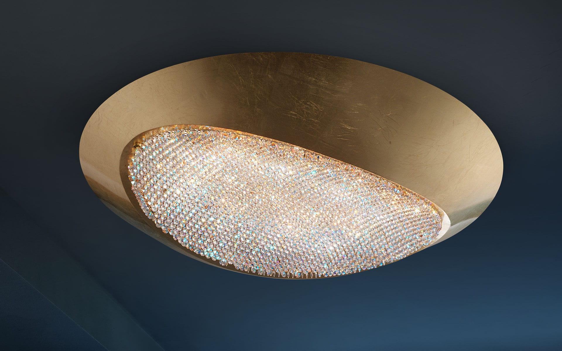 Plafoniere In Cristallo Prezzo : Plafoniera moderna in cristallo swarovski alluminio a