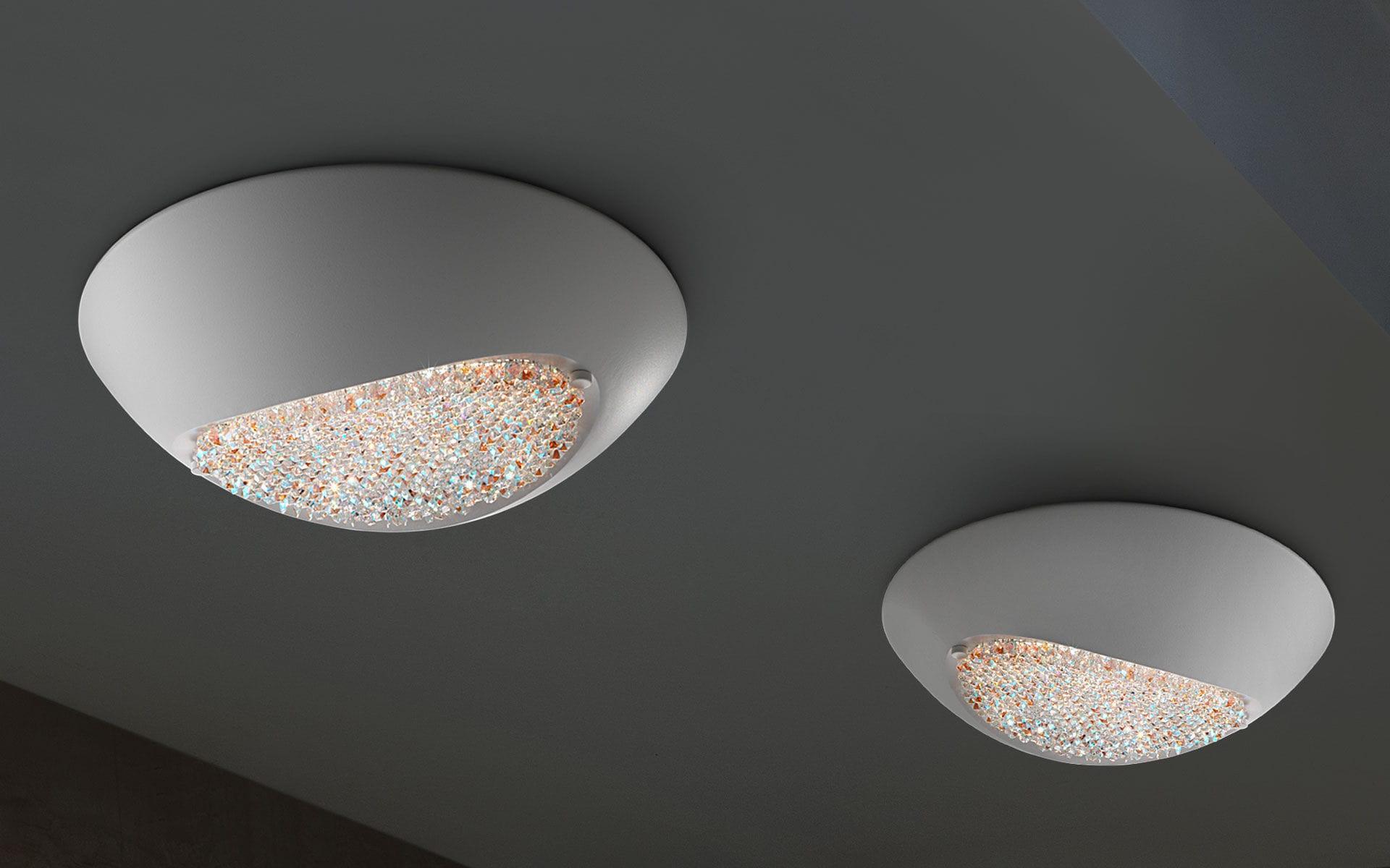 Plafoniera Cristallo Swarovski : Plafoniera moderna in cristallo swarovski alluminio a