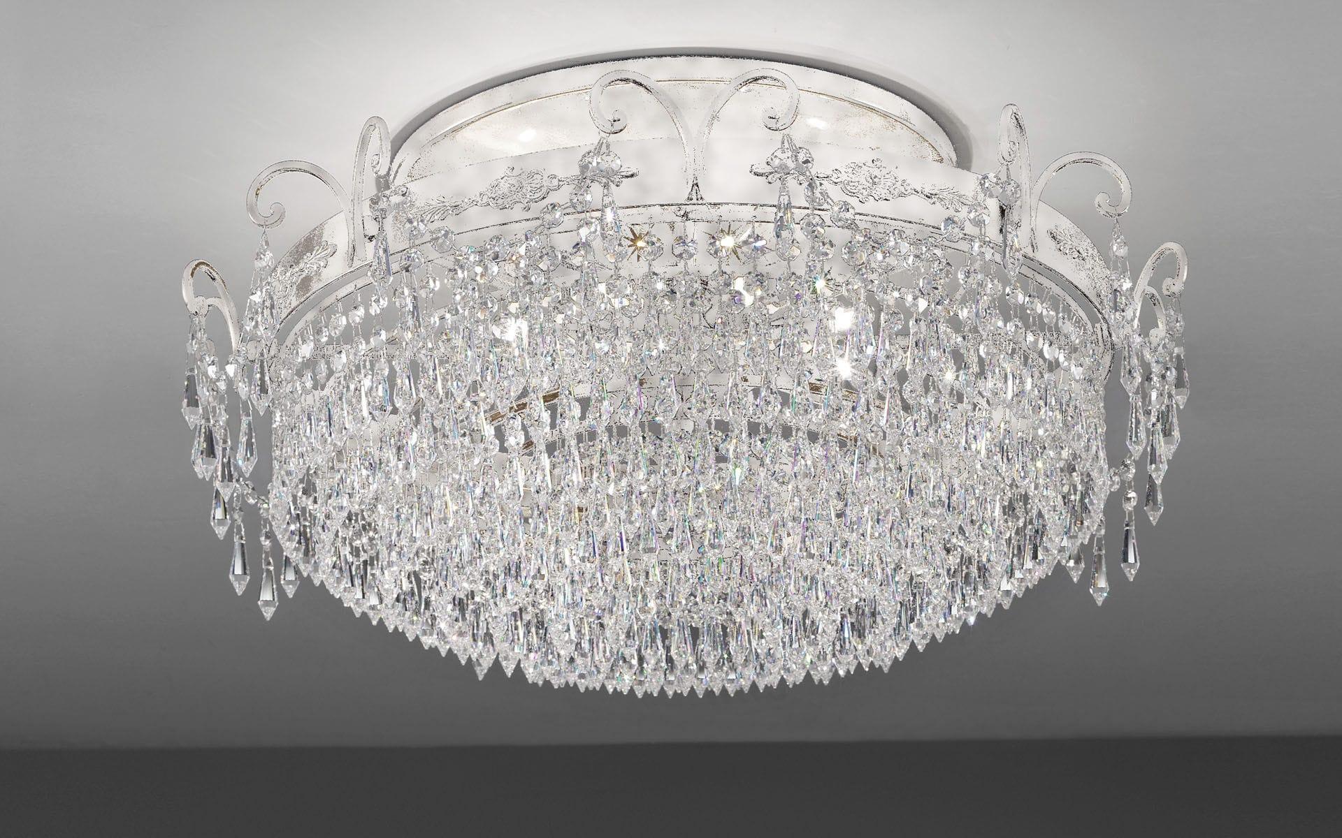 Plafoniere Cristallo Prezzi : Plafoniera in stile tonda cristallo metallo glassÉ pl8