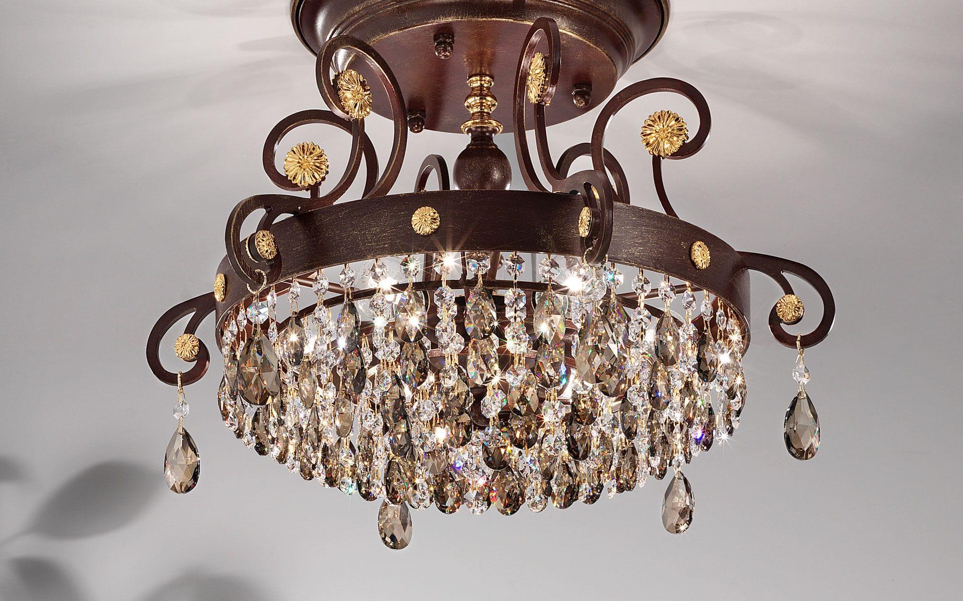Plafoniere Con Swarovski : Produciamo lampadari applique lampade plafoniere lume e