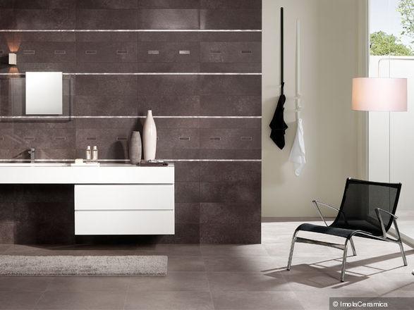 Piastrella da bagno / a muro / in gres porcellanato / lucidata ...