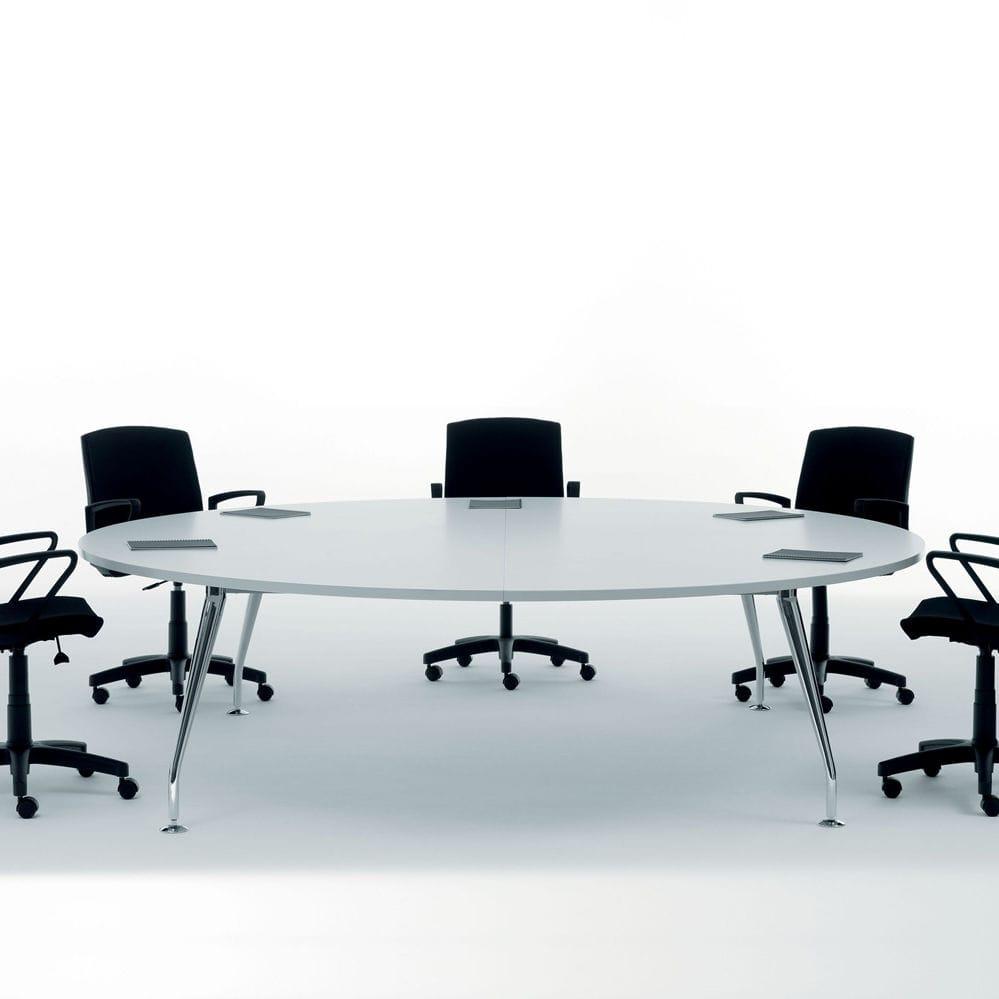 Tavolo da riunione moderno / in legno / tondo - CLICK MANAGER - Manerba