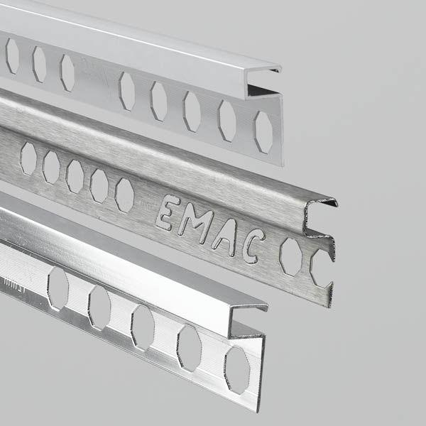 Profilo di finitura in alluminio per piastrelle novolistel