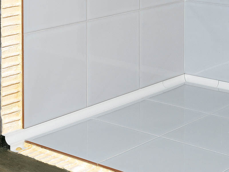 Profilo di finitura in alluminio per piastrelle per angolo