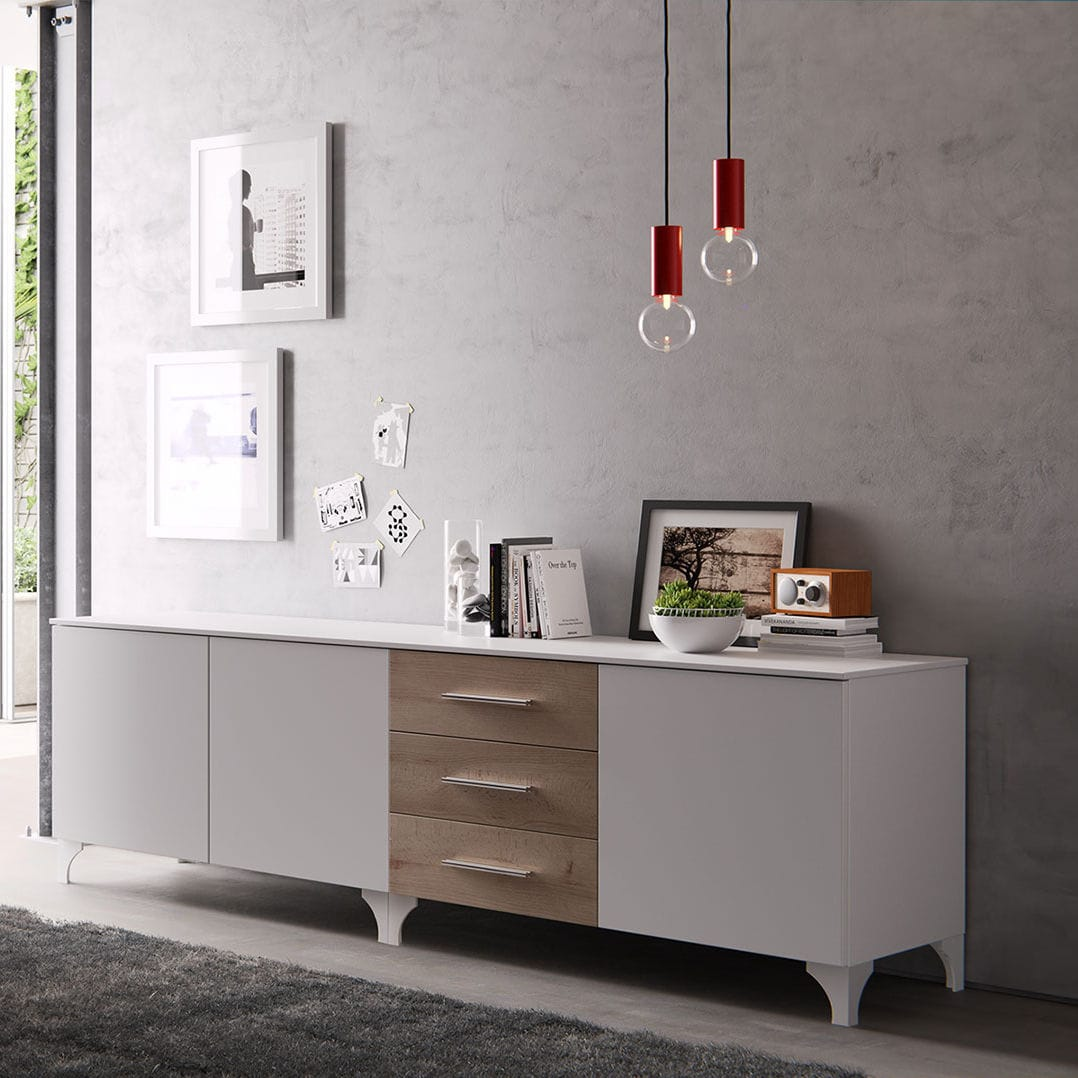 Credenza moderna / in legno laccato / bianca - MD09P - GIESSEGI