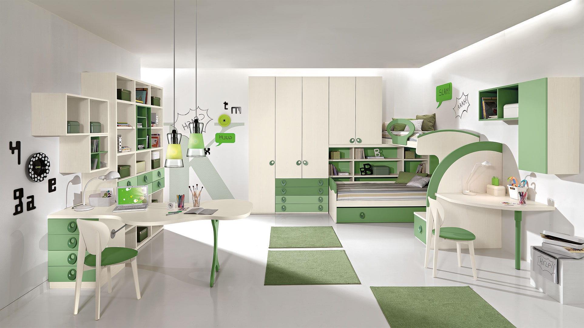 Camerette Per Bambini Verdi Colorare Le Pareti Della Cameretta Dei