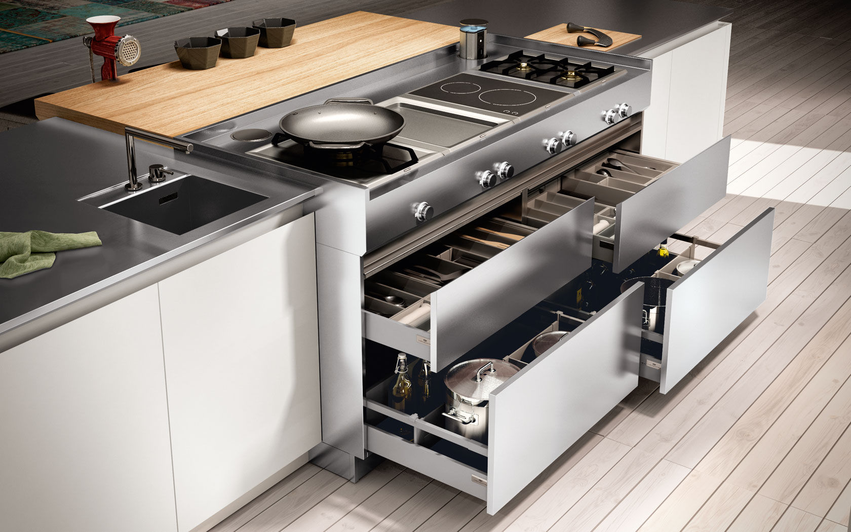Cassetto da cucina - AMBRA - Lineaquattro