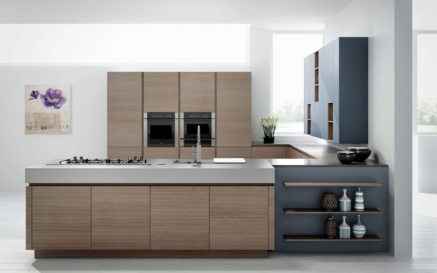 Cucina moderna / impiallacciata in legno - ESSENTHIA ELECTA ...