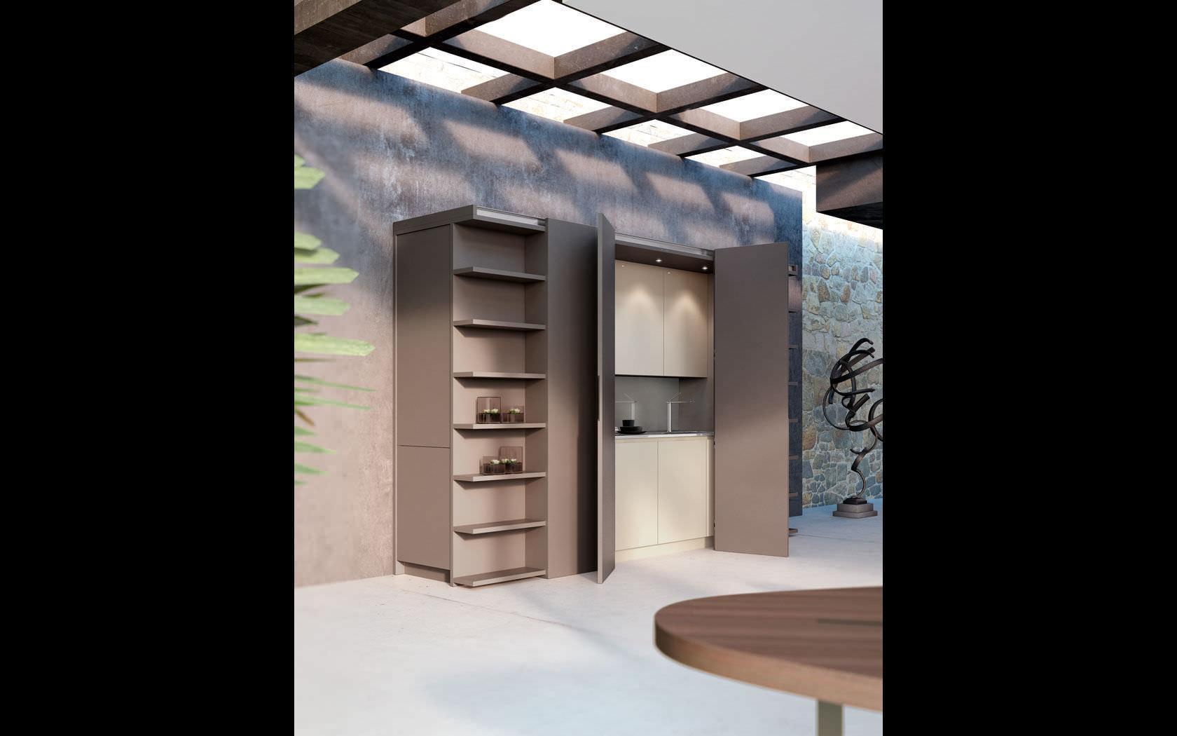 Cucina moderna / in legno / a scomparsa - METAMORPHOSIS - Lineaquattro