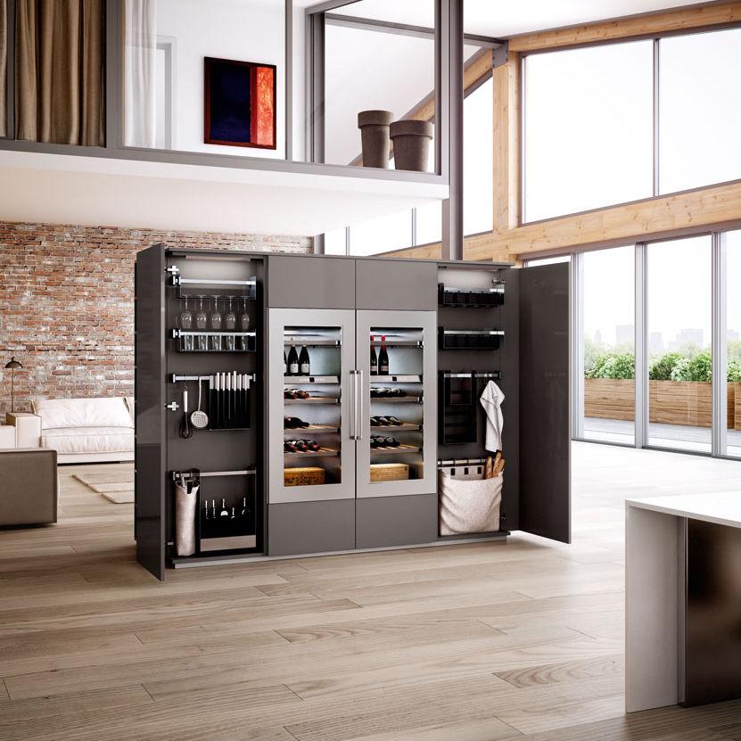 Mobile alto per cucina in legno - OPAL PURA - Lineaquattro