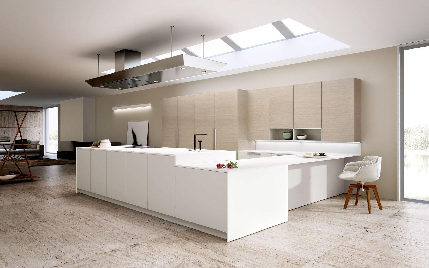 Cucina moderna / in legno / laccata / senza maniglie - OPAL REGULA ...