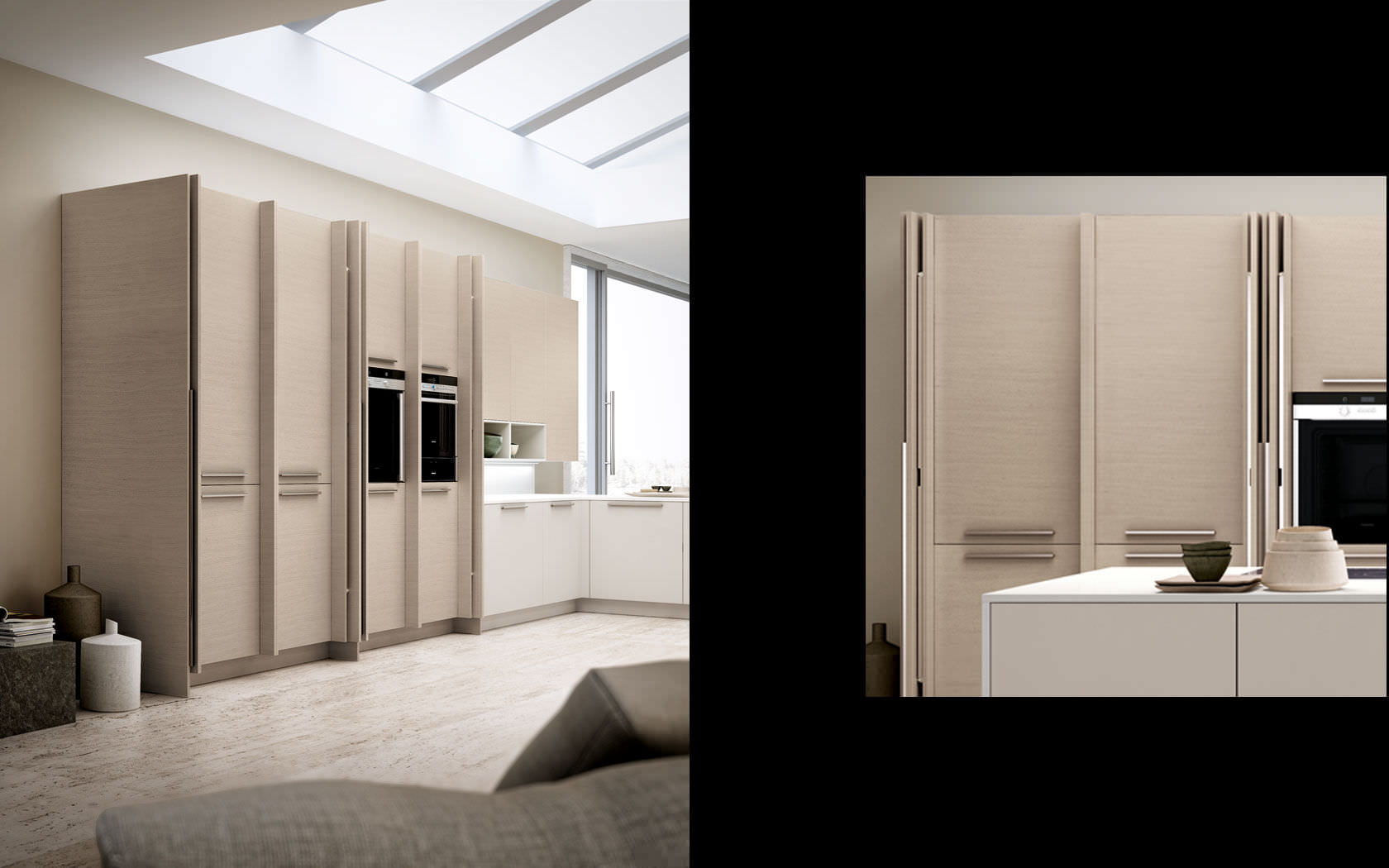 Mobile alto per cucina in legno - OPAL REGULA - Lineaquattro